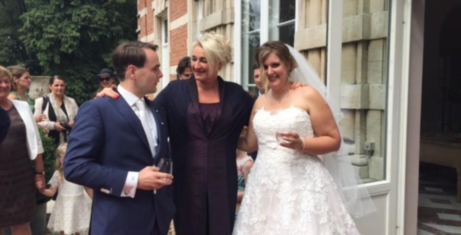 Op Kasteel Brasschaat met bruidspaar Amy&Johnny